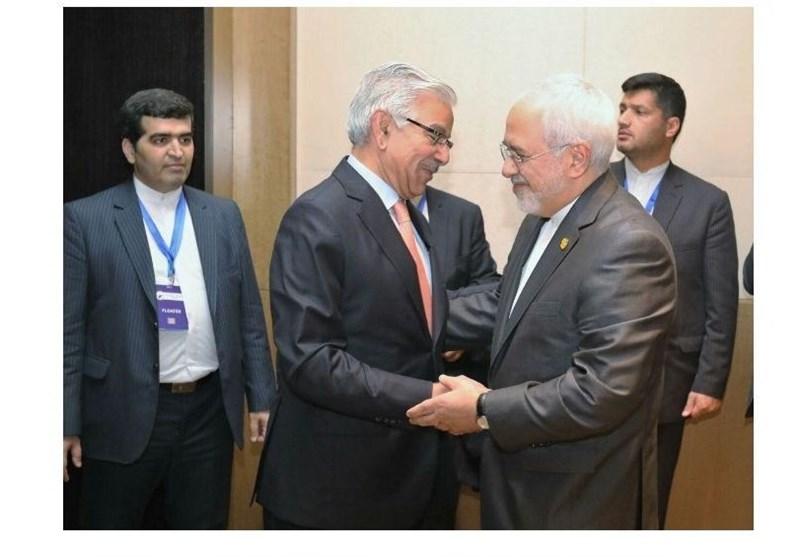 محمدجواد ظریف کی پاکستان اور آذربائجان کے وزراء خارجہ سے ملاقات