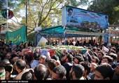 تشییع شهید معلم مدافع حرم مجید عسگری-قم