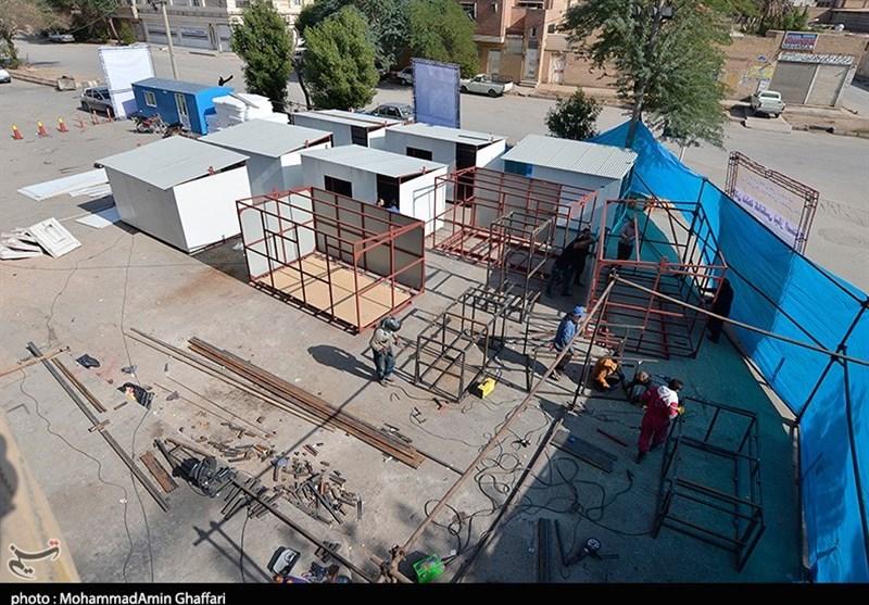 ساخت کانکس برای زلزلهزدگان کرمانشاهی به همت خیران خوزستانی