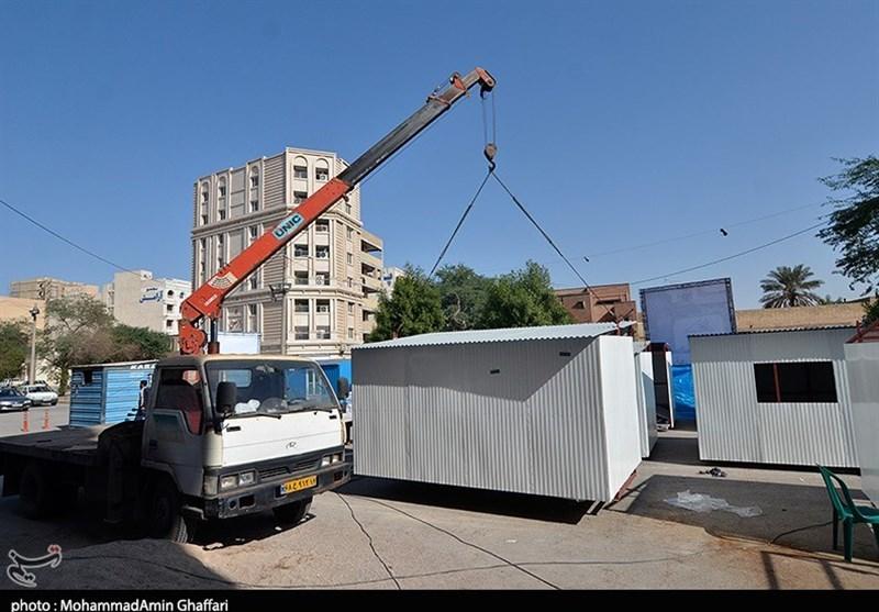 دومین کارگاه ساخت کانکس برای زلزلهزدگان کرمانشاه در اهواز راهاندازی شد