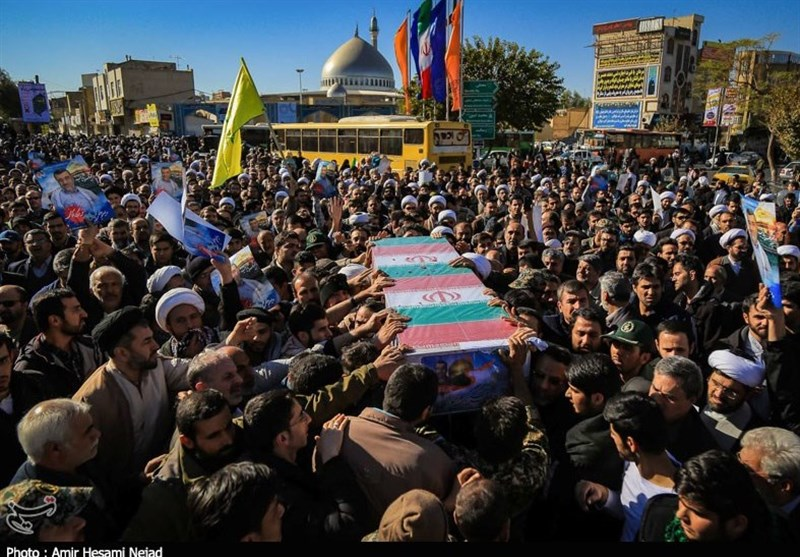 تشیع شهید مدافع حرم مجید عسکری