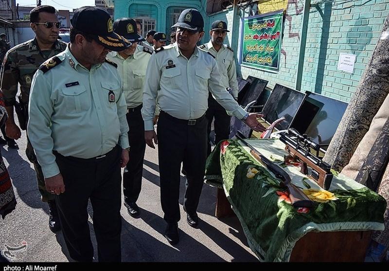 کشف اموال مسروقه توسط نیروی انتظامی اهواز