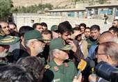 فرمانده سپاه برای سومین بار در مناطق زلزله زده کرمانشاه حضور یافت