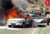آتش گرفتن خودروی سمند در محور برزول - فارسبان نهاوند 2 کشته برجای گذاشت