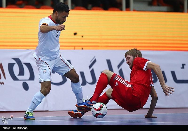 رقابت های چهار جانبه فوتسال اصفهان-بازی ایران و روسیه