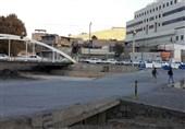 مسدودسازی پل موقت ساحلی استانداری سبب ترافیک سنگین مرکز خرم آباد شده است