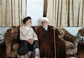 رئیس دفتر مقام معظم رهبری با آیتالله جعفری در کرمان دیدار کرد