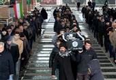 پیکر مادر 2 شهید دفاع مقدس در تبریز تشییع شد
