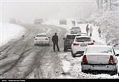 45 خودرو در گردنه شاه منصوری و چری گرفتار کولاک برف شدند