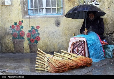 بارش برف پاییزی در همدان