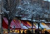 نخستین برف پاییزی اردبیل