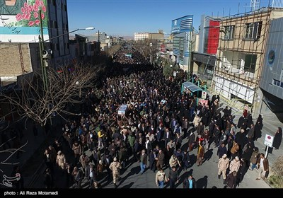 مراسم تشییع و تدفین شهید مدافع حرم منصور عباسی هفشجانی در شهرکرد