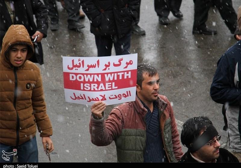 راهپیمایی ضد اسراییلی مردم بجنورد-خراسان شمالی