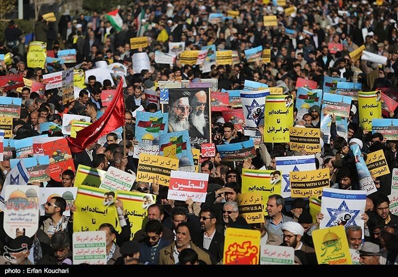 مظاهرات غاضبة فی ایران تندیداً بقرار ترامب بشأن القدس+صور وفیدیو