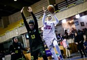 لیگ برتر بسکتبال بانوان| پیروزی میلیمتری هیرو برابر آبادانیها