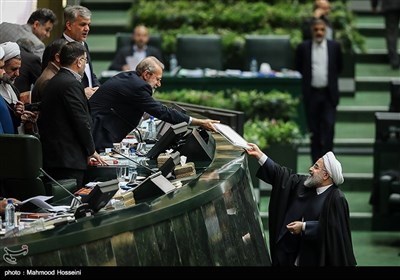 Iran's President Rouhani Submits National Budget Bill to Parliament