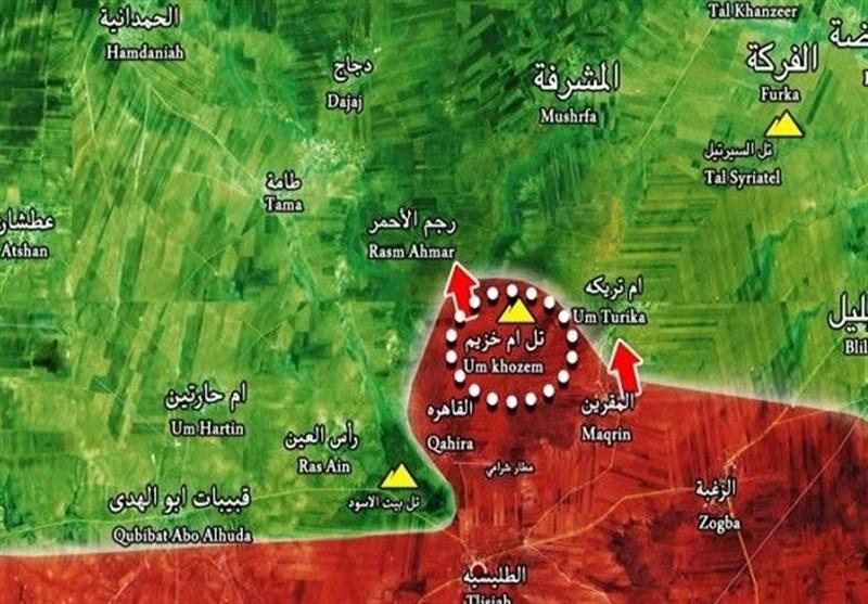 شامی شہر حماہ کے مضافات میں کئی علاقے دہشت گردوں سے آزاد کرالئے گئے