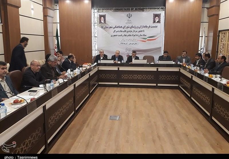 نشست فرمانداران شهرستانهای خوزستان در استانداری