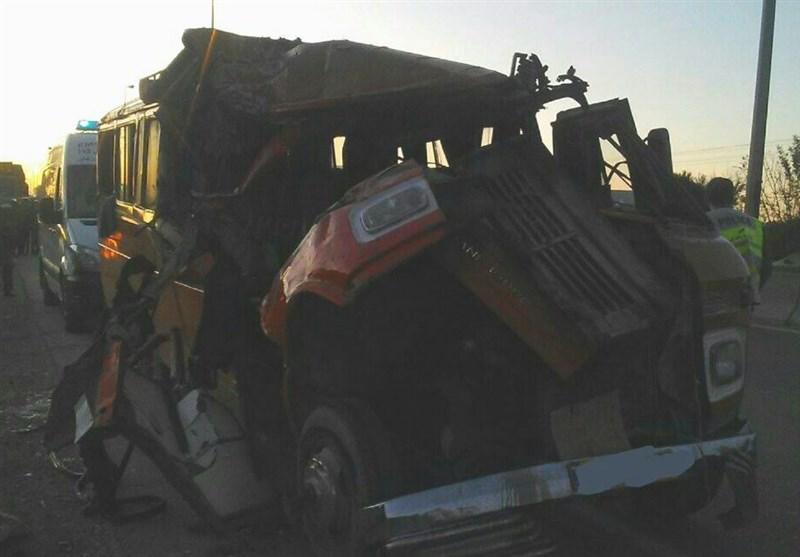 اصفهان| تصادف مرگ بار در محور بوئین میاندشت به خوانسار؛ 11 مسافر کشته شدند