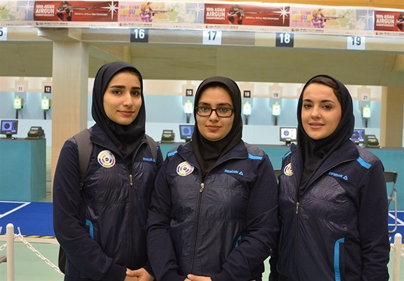Iran Junior Women's 10m Air Pistol Wins Gold at Asian C'ships