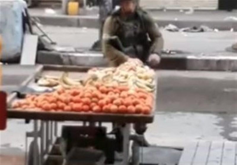 میوه دزدی افسر صهیونیست از فلسطینیان + فیلم