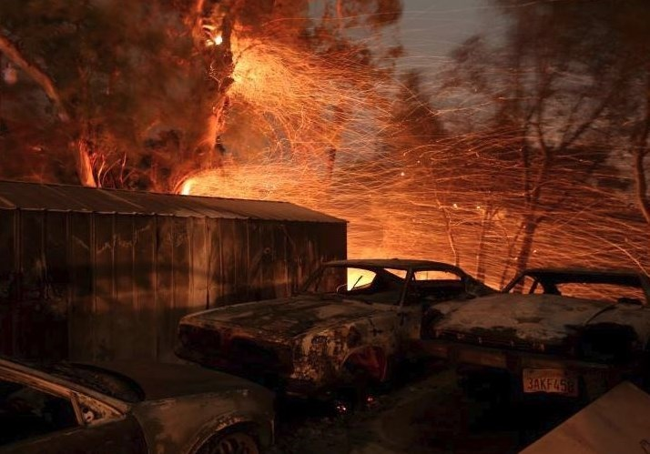 South California Fire Becomes Fifth Largest in Modern History