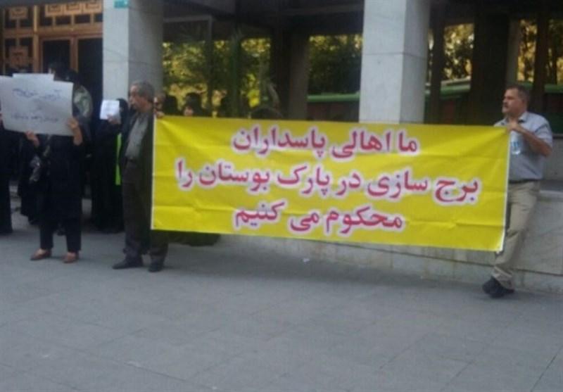 سالاری: ساخت و ساز در بوستان غیرقانونی است/معاون شهردار منطقه ۴ : ساخت و ساز قانونی است -  Tasnim