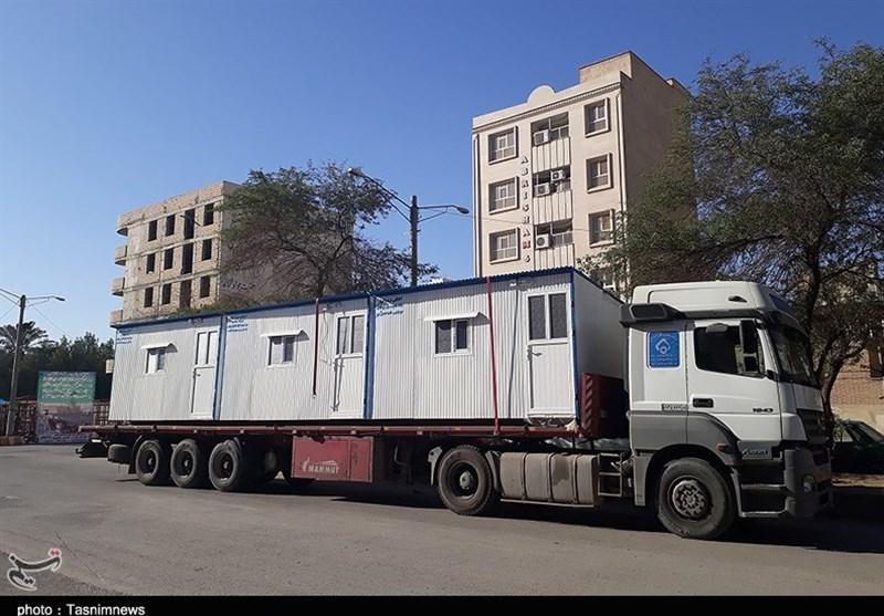 ارسال کانکسهای اهدایی مردم اهواز به سرپلذهاب