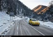 بارش برف و باران در جادههای استانهای شمالی