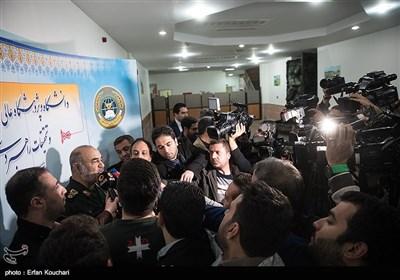 سردار حسین سلامی جانشین فرمانده کل سپاه پاسداران در جمع خبرنگاران