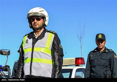 مانور طرح زمستانی پلیس راه در جاده ها-همدان