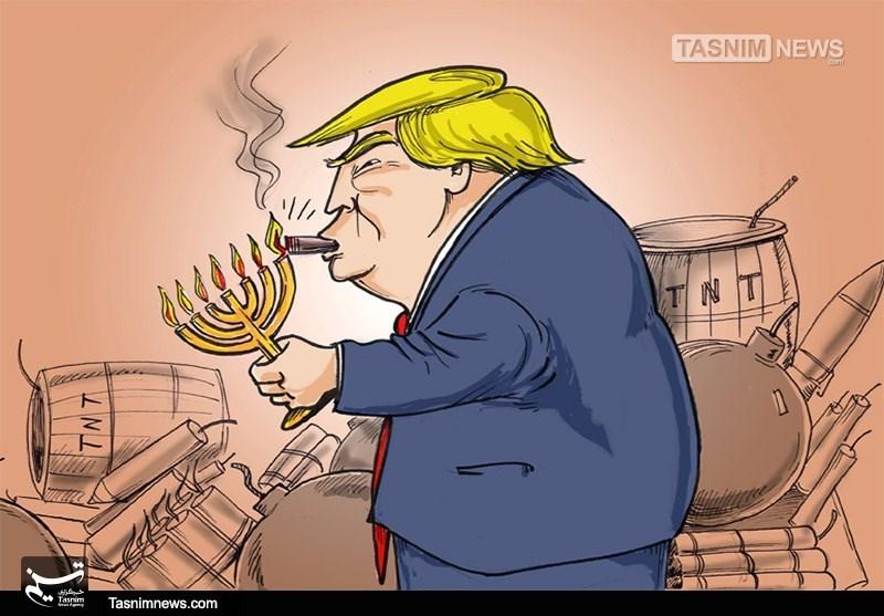 کاریکاتور/ ریختن بنزین در آتش منطقه!!!