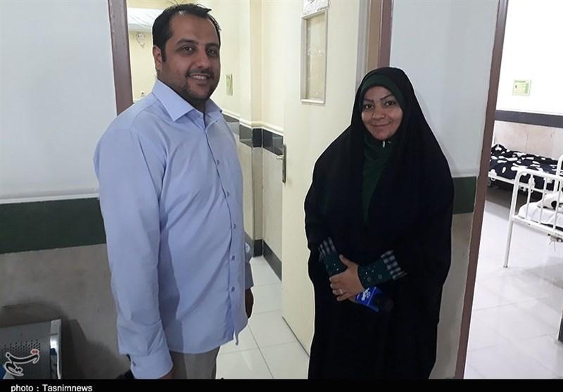 زوج خبرنگار در دیدار رزمندگان اهوازی با جانبازان دفاع مقدس خوزستان