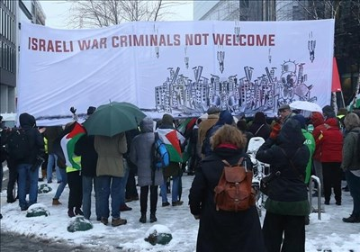 تظاهرات در بروکسل در اعتراض به سفر نتانیاهو