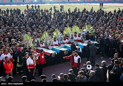 Iranian Climbers' Funeral Procession Held in Mashhad