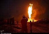 آتش چاه نفتی رگ سفید بالاخره خاموش شد