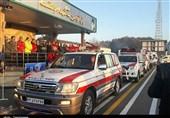 مانور زمستانی نیروهای امدادی در گیلان