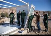زلزله کرمانشاه| سپاه و ساخت کانکس برای زلزلهزدگان + عکس