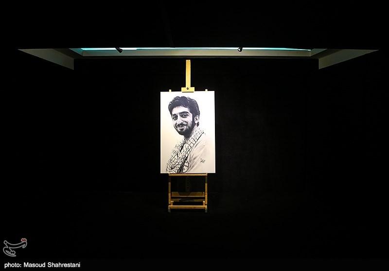 رونمایی از نقاشی شهید محسن حججی