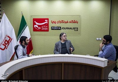 احمد عربانی کاریکاتوریست گل آقا در باشگاه خبرنگاران پویا حضور یافت +عکس