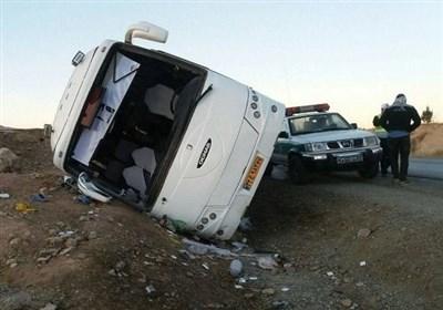 4 کشته در واژگونی یک اتوبوس مسافری در جاده تبریز به زنجان
