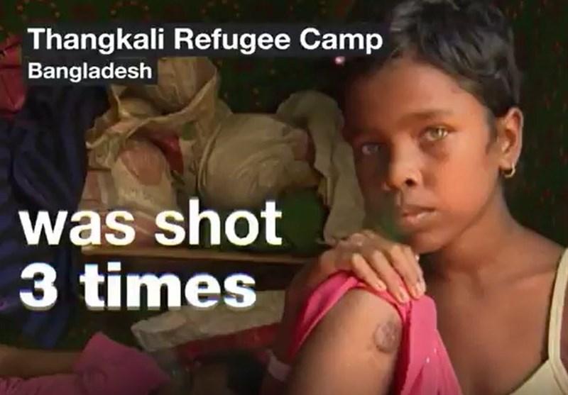 الاطفال ضحیة اطلاق النار المتعمد من قبل جیش میانمار+فیدیو