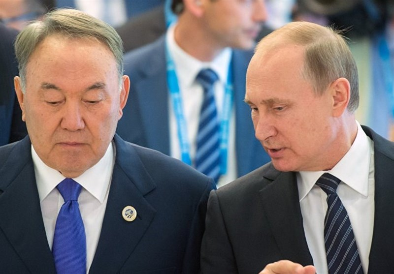 پوتین و رییس جمهور قزاقستان