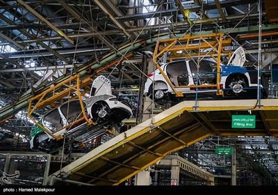 خط تولید محصولات شرکت ایران خودرو