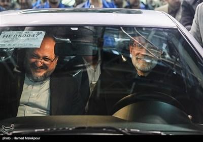 مراسم آغاز تولید دنا پلاس توربو با حضور علی لاریجانی رئیس مجلس شورای اسلامی و محمد شریعتمداری وزیر صنعت، معدن و تجارت