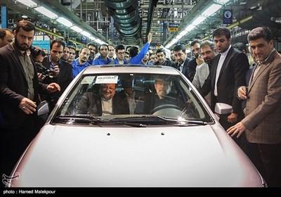 مراسم آغاز تولید دنا پلاس توربو با حضور علی لاریجانی رئیس مجلس شورای اسلامی