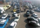 ترافیک سنگین در پل جهاد مراغه بدون حضور پلیس راهنمایی و رانندگی به روایت تصویر