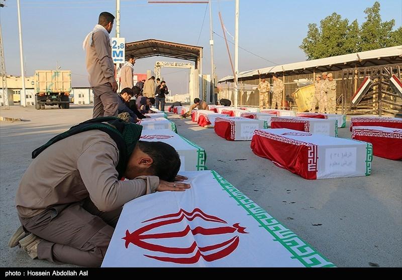 پیکرهای ۱۱۸ شهید دفاع مقدس فردا از مرز شلمچه وارد کشور می شوند