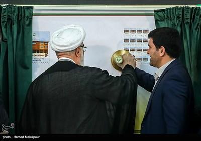 رونمایی از تمبر هزارمین مدرسه برکت توسط حجتالاسلام محمدی گلپایگانی رئیس دفتر مقام معظم رهبری