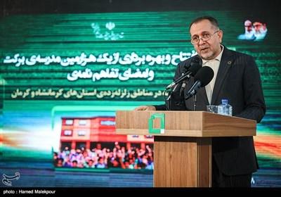 سخنرانی عارف نوروزی مدیرعامل بنیاد برکت در مراسم افتتاح هزارمین مدرسه برکت
